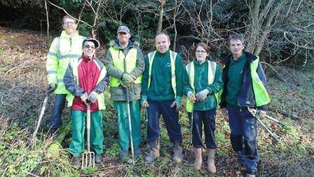 Growing Places at Holywells Park From left to right, Richard Sharp, community engagement and volun