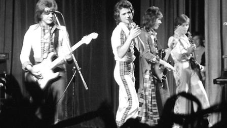 The Bay City Rollers on stage in Ipswich in 1976. Photo: Jerry Turner