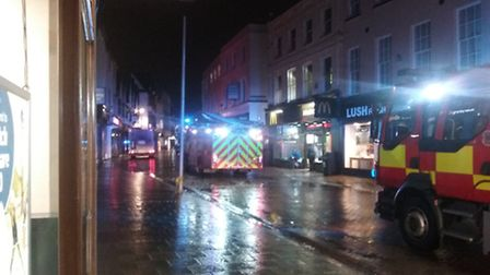 Fire at McDonald's, Tavern Street. Photo by Peter Chambers.