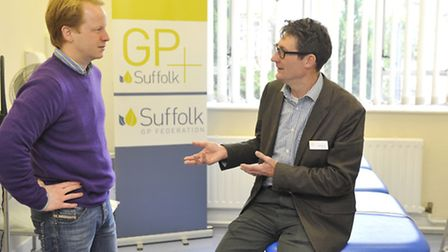 Ben Gummer MP gets a tour of GP Plus at the Riverside Clinic by Dr Paul Driscoll.