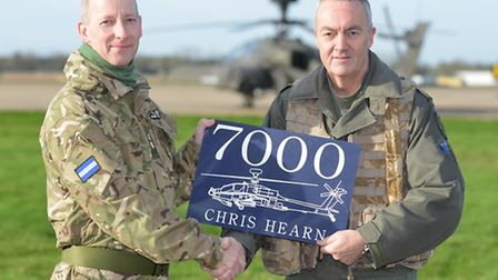 Lieutenant Colonel Justin Stein, AH Force Chief of Staff, (left) and Major Chris Hearn MBE