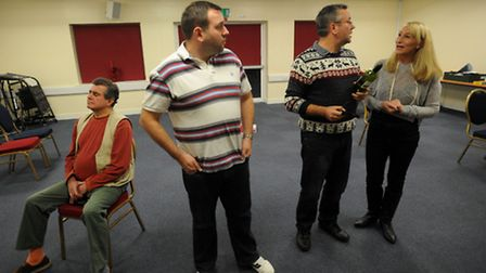 The Masque Players amateur theatre company rehearse at Kesgrave Community Centre.
