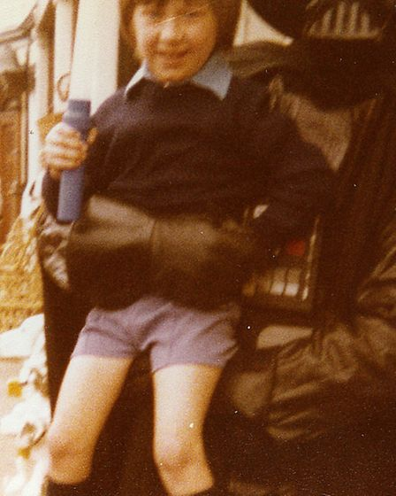 A young me with Darth Vader, well some of him. Photo: Leslie Savage