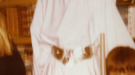 A young me with Princess Leia, well, as much as my dad could get in frame. Photo: Leslie Savage