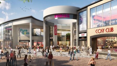Artist's impression of the future Buttermarket Shopping Centre in Ipswich.