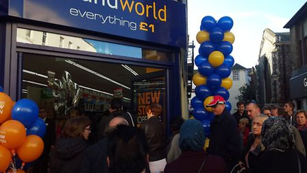 Poundworld opens in Ipswich