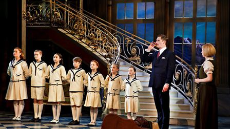 Gray O'Brien as Captain Von Trapp and Lucy O'Byrne as Maria in The Sound of Music, at the Ipswich Re