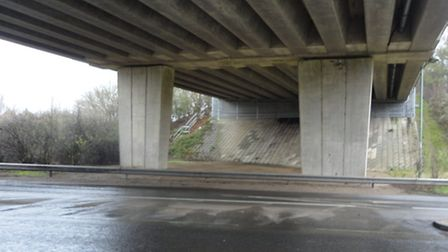 Essential bridge maintenance work, worth £1.5 million, will take place on the A14 at Hill House in S