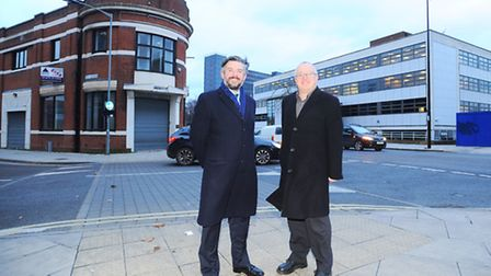 Shadow cabinet minister Jonathan Ashworth visiting Ipswich to see the work on boosting the Princes S
