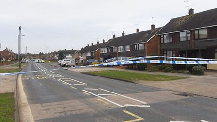 The police road block on Hawthorn Drive Ipswich