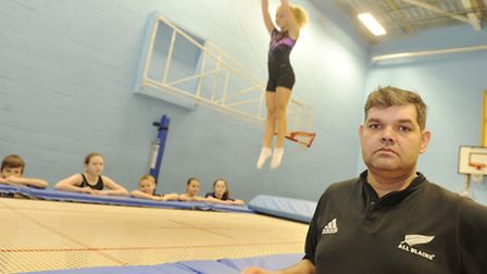 Lee Stannard, coach at Ipswich Four, is welcoming the news that a trampoline park is coming to Ipswi