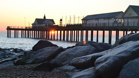 Early morning sunrise at Southwold - visit the pier for a quirky day out