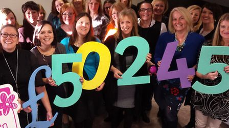 Avanti Networking fundraising for CLIC Sargent charity in 2015. Front left, organiser Victoria Sharp