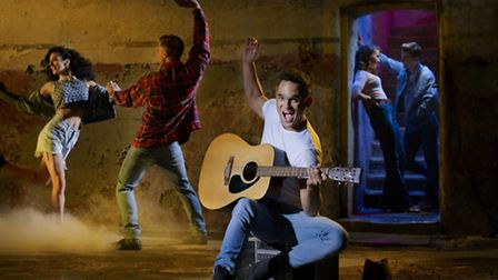 Gareth Gates as Willard in a new production of Footloose The Musical, at the Ipswich Regent, Oct 201