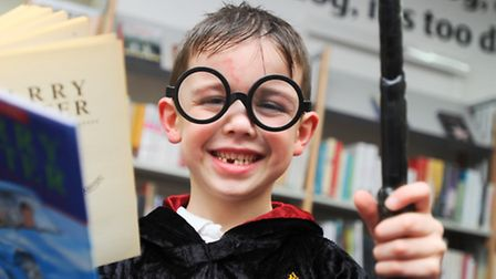 Harry Potter Book Night at Stowmarket Library. Pictured is Joshua Bridges.
