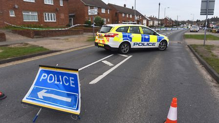 Police activity on Hawthorn Drive, Ipswich, following the incident at a home in Chantry.