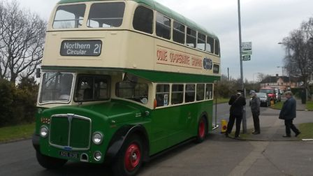 The 1964-registered Ipswich Corporation double-decker bus giving rides at the season-opening gala.