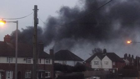 A fire broke out in Landseer Park on Wednesday. Pic: Peter Chambers.