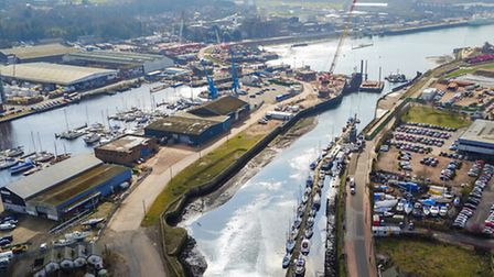 The Wet Dock Island Site with the site for the proposed new link at the top of the picture, just abo