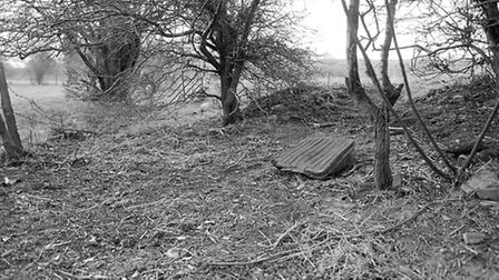 Site where body of baby was found. March 1984