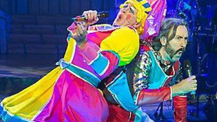 Last year's rock 'n' roll panto The Sword in the Stone at the New Wolsey Theatre. Photo: Mike Kwasni