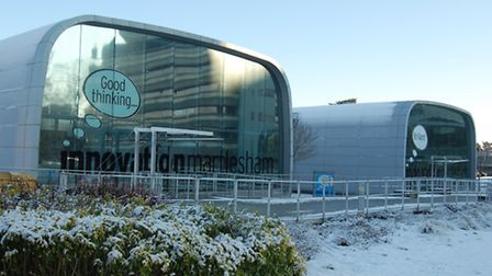 Ross and Vega Buildings are home to the business incubator at Innovation Martlesham at BT's Adastra