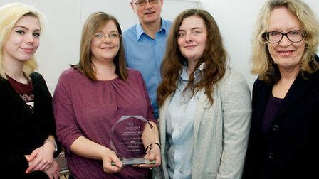 Fizzwig Design apprentice award Paige Bellwood, Wendy Cook, Mark Keable and Chloe Jeffs of Fizzw