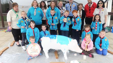 Suffolk beavers paint their pigs go wild pig at hallowtree, Ipswich