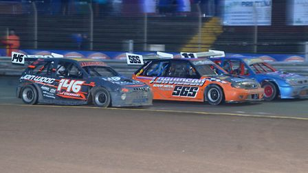 Action from the two-litre Hot Rods at Foxhall