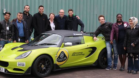 UCSMBA business students visit the Lotus factory to find out about car manufacturing