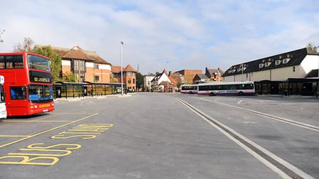 The Old Cattle Market bus station in Ipswich, where the attack happened.