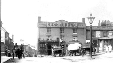 The Rose and Crown stood at the junction of Bramford Road