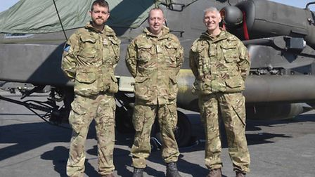 Image of (L-R) Lieutenant (Royal Navy) Jimmy Doyle, Officer Commanding the detachment on Exercise Jo