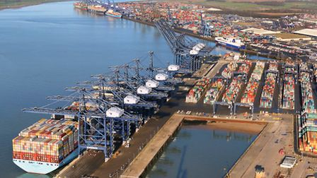 Mike Page - Felixstowe Port. Number 10 used this pic without permission in it's £9m pro-Europe leafl