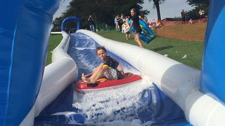 The EACH Super Slip and Slide, which will be in Christchurch Park next month.