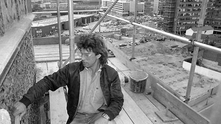Who was this working on the tower of St Peters Church, Ipswich, in August 1987?
