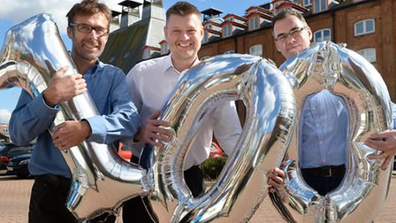 From left, Andy Budd, head of design and delivery; Andrew Haskell, head of resource management, and