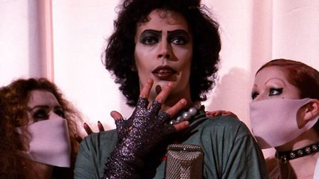 A shot of the cult rock musical The Rocky Horror, which stars Tim Curry.