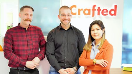 Left to right, Phil McEwan head of marketing, Adrian Willings senior search strategist and Zhanna As