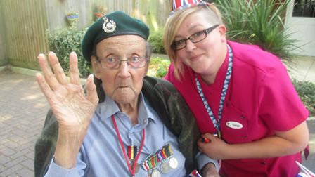 Bucklesham Grange care home hosts street party to mark VE Day - Resident John Lemare, 90 with lifest