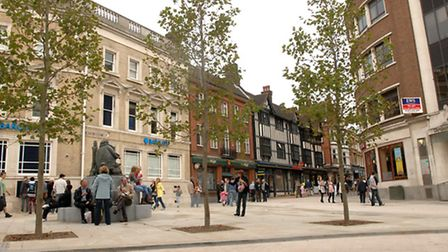 Giles Circus in Ipswich, where Princes Street and Queen Street meet.