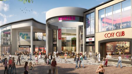 An artist's impression of the Arras Square to the Buttermarket - as it should look later this year.