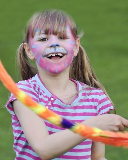 Katie Nicholas, 8, dances at last year's Ipswich May Day Festival in Alexandra Park.