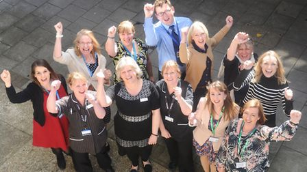 The team behind the building of the new Woolverstone Macmillan cancer centre at Ipswich Hospital cel
