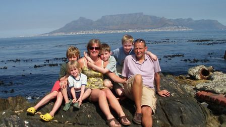 Melissa Cutting, with Chris Goodhead and their four children