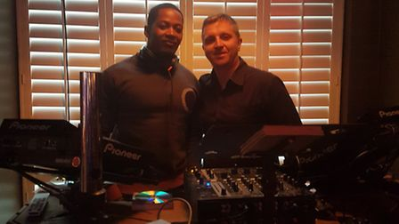 DJs Antwonne Smith and Steve Cates at the Experience Nighs at Revolution in Ipswich