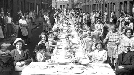 A party for the Queen in 1953. Pauline Street, Ipswich.