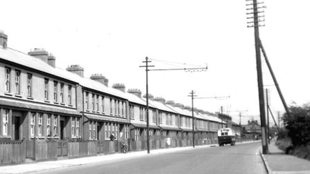 Wendy Orriss recalls living in one of these houses in Bramford Road, Ipswich.