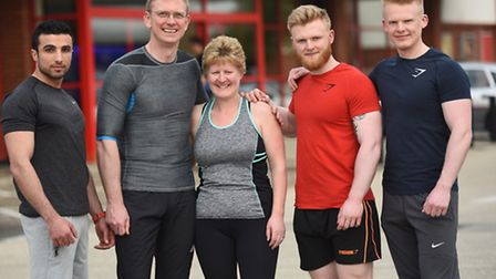 Left to right, Loai Mahmood, Bryce, Sue, Adam and James Kelly.