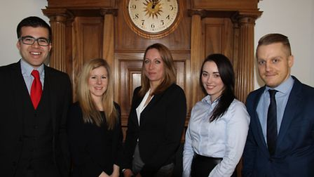 (Left to Right): O.J Topping, Katie Mead, Laura Catania, Juliet Burtrand, Lloyd Clarke